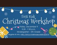 First Kids Christmas Workshop Slide 2016